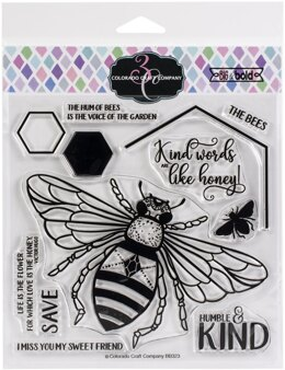 "Colorado Craft Company Clear Stamps 6""X6"" - Honey Bee-Big & Bold"