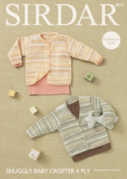 Cardigans in Sirdar Snuggly Baby Crofter 4 Ply - 4819 - Downloadable PDF
