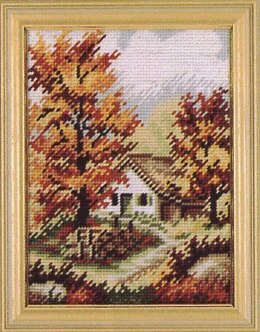 Rico Cottage in Autumn Tapestry Kit - 16.5 x 23 cm