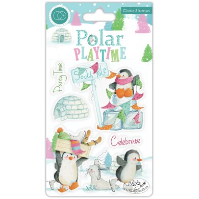 Craft Consortium A5 Clear Stamps - Polar Playtime