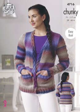 Cardigan & Waistcoat in King Cole Riot Chunky - 4716 - Downloadable PDF
