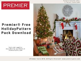 Holiday Pattern Pack in Premier Yarns Serenity Marl - SMHPP003 - Downloadable PDF