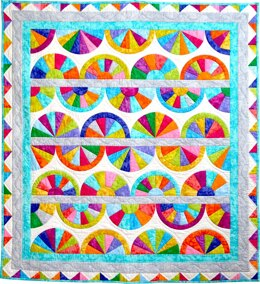 Michael Miller Fabrics Krystal Fans Quilt - Downloadable PDF