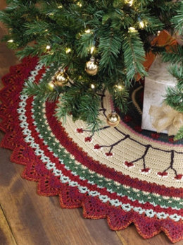 Christmas Tree Skirt in Caron Simply Soft Heathers & Simply Soft - Downloadable PDF