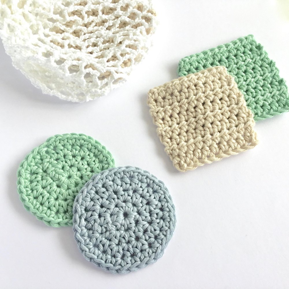 Face Scrubbies with Laundry Bag Crochet pattern by Little Conkers ...