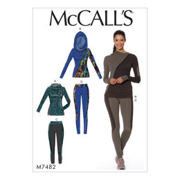 McCall's Misses' Asymmetrical-Zip Jacket and Seamed Leggings M7482 - Sewing Pattern