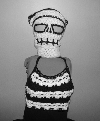 Kreepy Skull Kerchief and CropTop