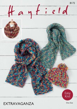 Hat & Scarf in Hayfield Bonus Extravaganza - 8172 - Downloadable PDF