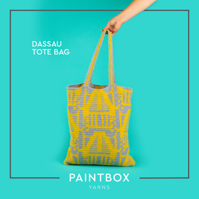 Dassau Tote Bag - Free Crochet Pattern For Women in Paintbox Yarns Recycled Cotton Worsted by Paintbox Yarns