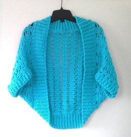 Short 'n Sweet Ribbed Lace Crochet Shrug