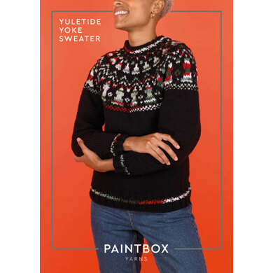 Yuletide Yoke Jumper : Jumper Knitting Pattern in Paintbox Yarns Bulky | Chunky Yarn