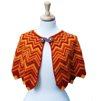 Flame-Tipped Shawl