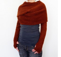 Rust Sweater Scarf