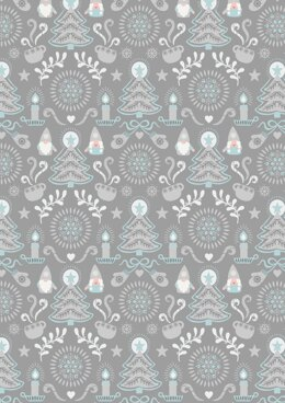 Lewis & Irene Hygge Christmas Grey Tonttu Cut to Length