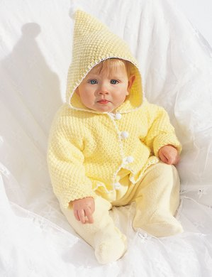 1b70ce4d6643 Hooded Baby Jacket in Bernat Softee Baby Solids