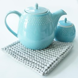Earl Grey Hot Pad-Tunisian Crochet