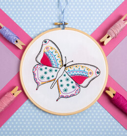 Hawthorn Handmade Butterfly Contemporary Embroidery Kit - 12 x 15cm