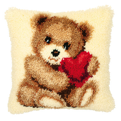 Vervaco Teddy with Heart Latch Hook Kit
