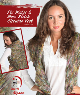 Pie Wedge & Moss Stitch Circular Vest in Misti Alpaca Baby Me Boo Hand Paint - 1220