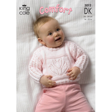 Sweaters and Blanket in King Cole Comfort DK - 3012