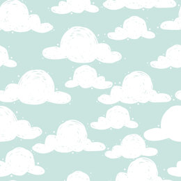 Craft Cotton Company Goodnight - Clouds