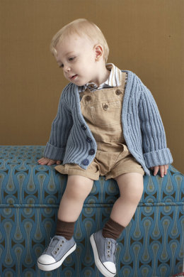 Brioche Stitch Baby Cardigan in Lion Brand Cotton-Ease - 90101AD