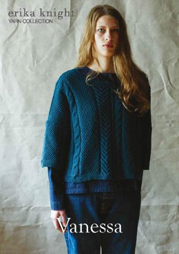 Vanessa Sweater in Erika Knight British Blue 100