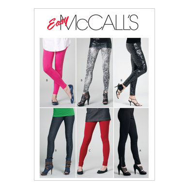 McCall's Misses'/Miss Petite Pants and Leggings M6173 - Sewing Pattern
