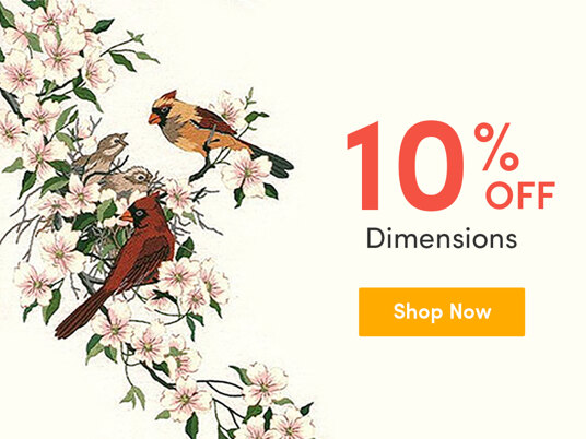 Up to 10 percent off Dimensions kits!