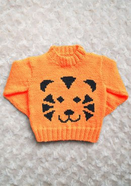 Intarsia - Tiger Face Chart & Childrens Sweater