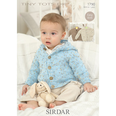 Sirdar Knitting Pattern Abbreviations : Cardigans and Jacket in Sirdar Snuggly Tiny Tots DK - 1790 - Downloadable PDF