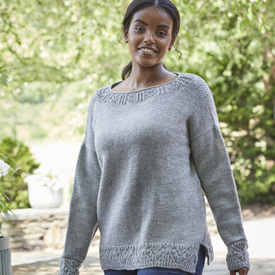 Mint Cooler Sweater in Valley Yarns Northampton - 991 - Downloadable PDF
