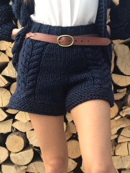 Chunky knit woman shorts - No sewing skills needed