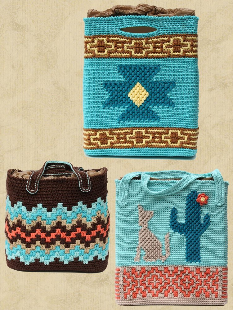 Native American Totes Crochet Pattern By Shady Lane