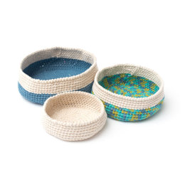 Crochet Nesting Bowls in Bernat Maker Home Dec - BRC0504-001619M - Downloadable PDF