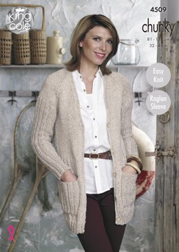 Cardigan & Sweater in King Cole Chunky - 4509 - Downloadable PDF