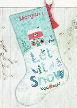 Dimensions Holiday Home Cross Stitch Stocking Kit - D70-08975