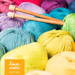 LoveCrafts eGift Card - Knitting