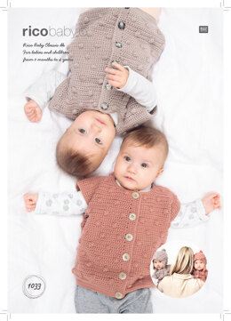 Baby's Hat and Waistcoat in Rico Baby Classic DK - 1033 - Downloadable PDF