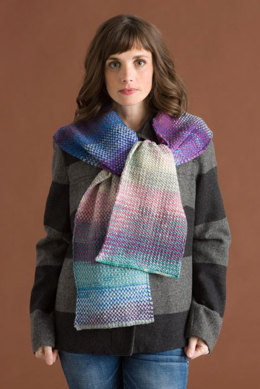 Linen Stitch Scarf in Classic Elite Yarns Liberty Wool Solids