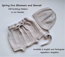 Spring Duo Baby Blommers and Bonnet