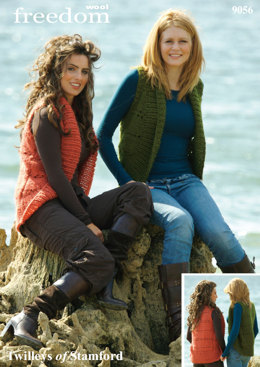 Knitted Body Warmer in Twilleys Freedom Wool - 9056