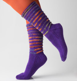 Ridges Socks in Regia 4 Ply and Design Line by Kristin Nicholas - R0242