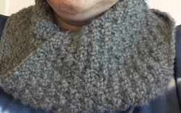 Cosy Double Moss Cowl - With Mobius Style Option