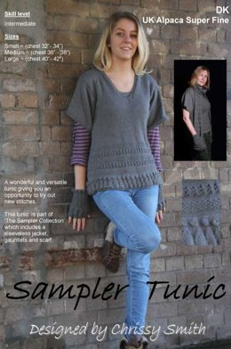 Sampler Tunic in UK Alpaca Super Fine DK (Downloadable PDF)