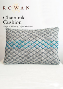 Chainlink Cushion in Rowan Pure Wool Worsted