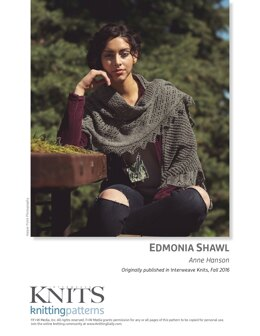 Edmonia Shawl in Bare Naked Wools Stone Soup DK - Downloadable PDF