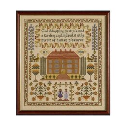 Historical Sampler Company House Sampler Cross Stitch Kit - 16ct Aida