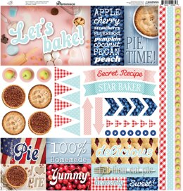"Reminisce Elements Cardstock Stickers 12""X12"" - Pie Time"
