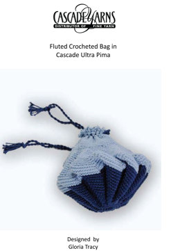 Fluted Crocheted Bag in Cascade Ultra Pima - 142